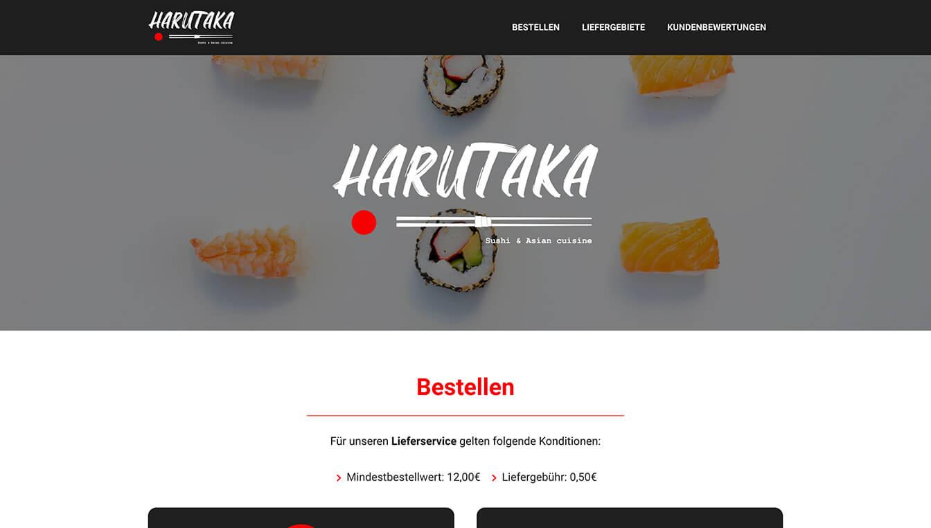 Harutaka - Website-Screenshot