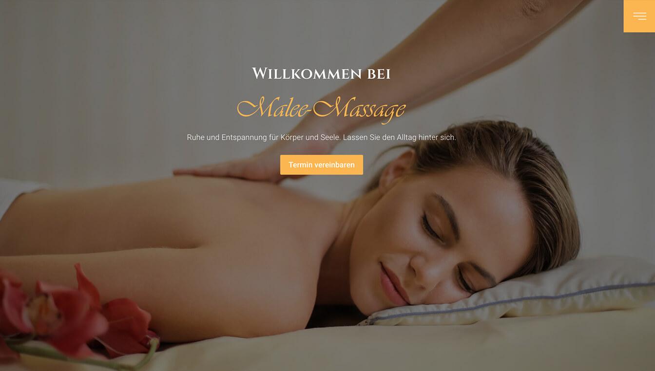 Malee-Massage - Website-Screenshot